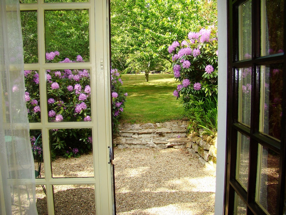 terrasse chambre aux rhododendrons